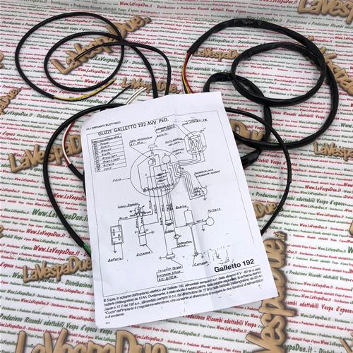 Schemi Elettrici Guzzi : Impianto elettrico per moto guzzi galletto senza avviamento